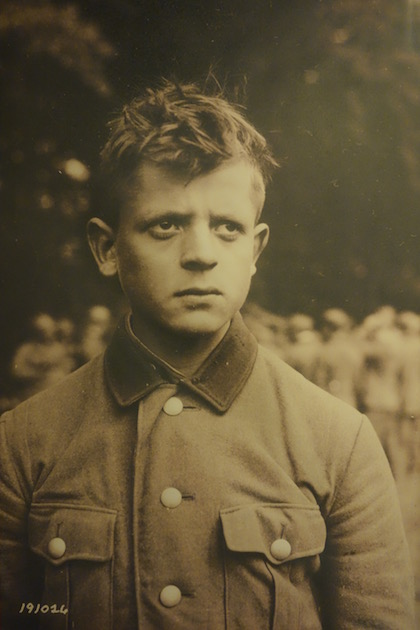 Photo of a very young German soldier, from the Musée de la Liberté Retrouvée, Quineville